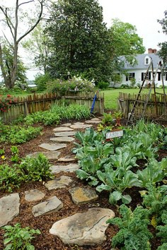 Creative vegetable gardener garden design paths for Pretty vegetable garden designs