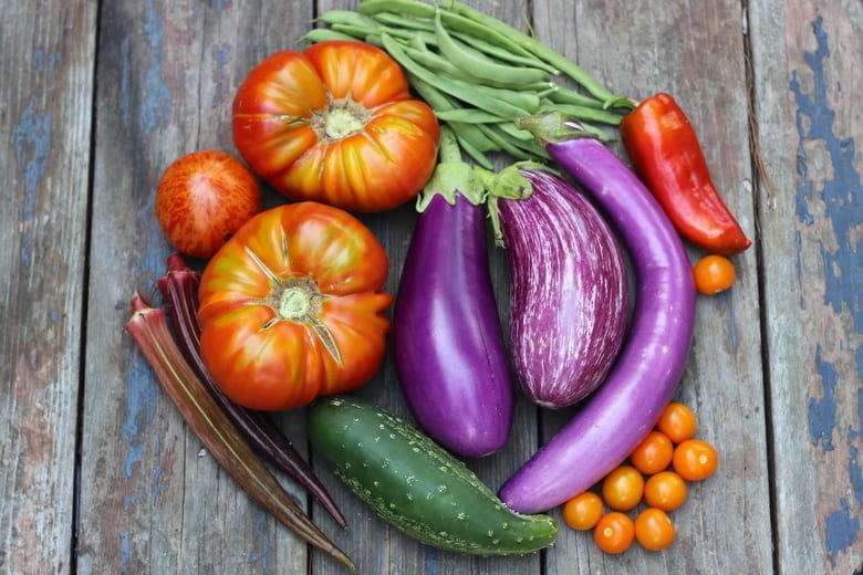 vegetable garden harvest with easy food preserving ideas