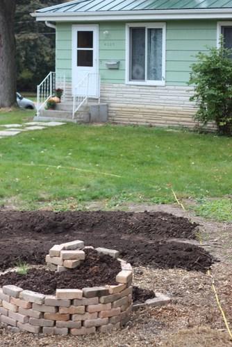 front yard garden herb spiral
