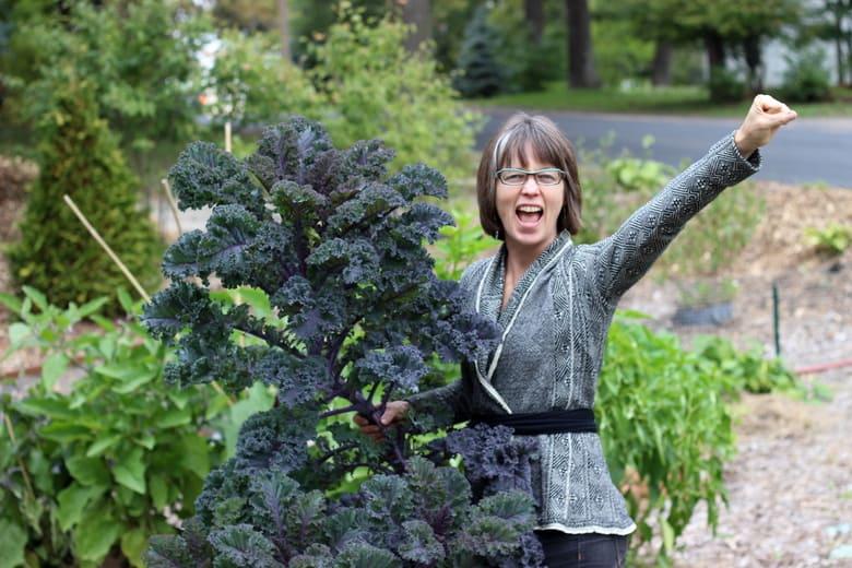 Redbor Kale Vegetable Garden