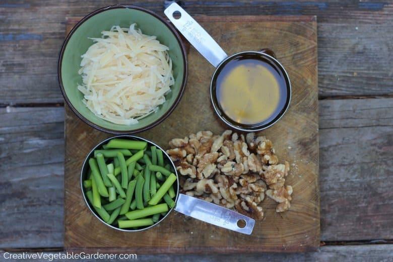 Garlic Scape Pesto Ingredients