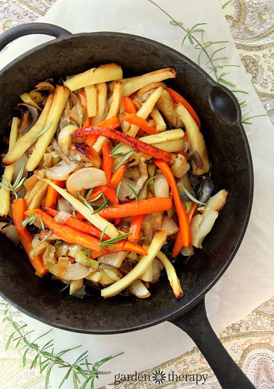 roasted root vegetable recipe as a vegetable side dish