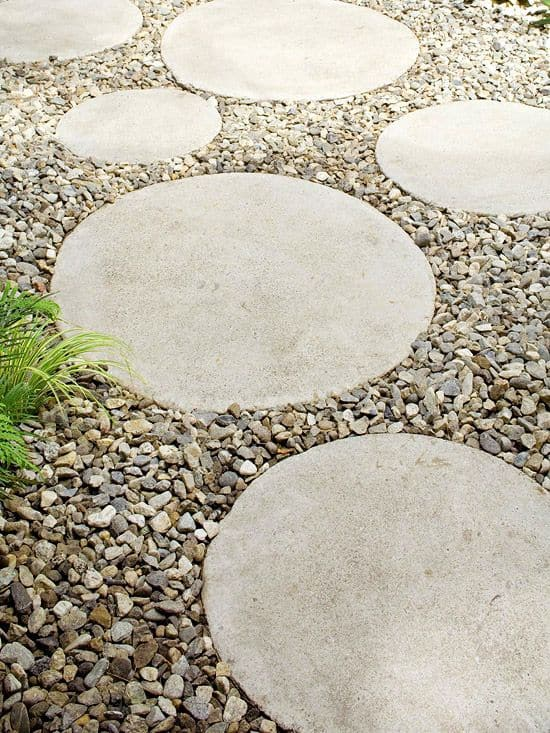 pictures of vegetable gardens with circular path