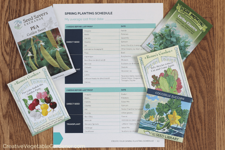printable planting schedule for garden