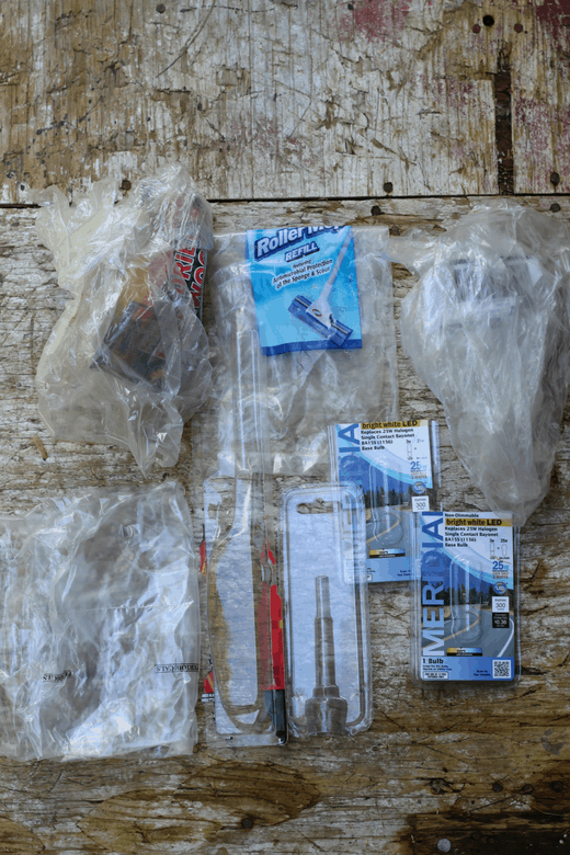 household plastic trash for plastic free july