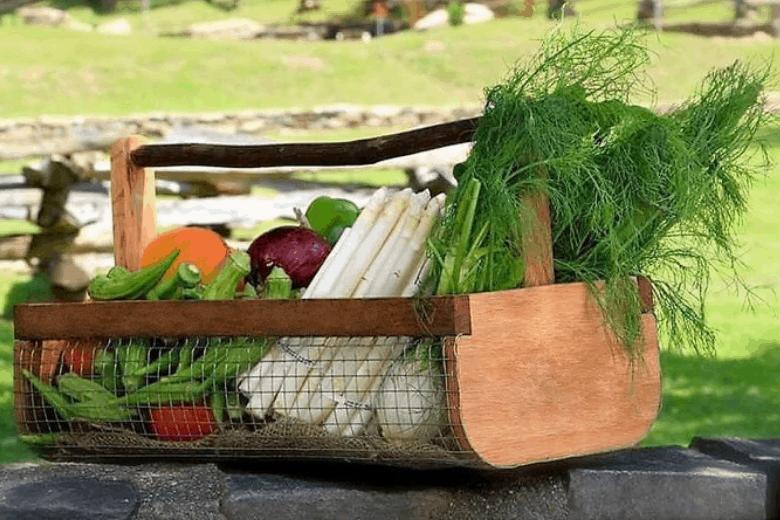 garden basket for unique garden gifts
