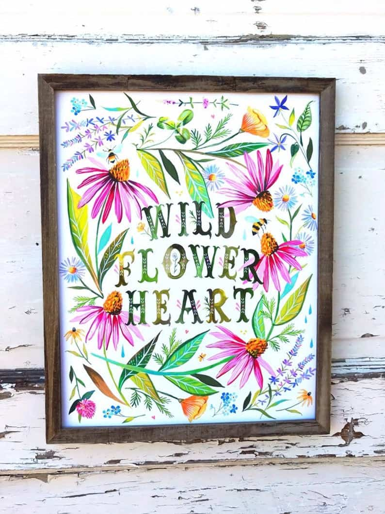 wildflower print for garden gift