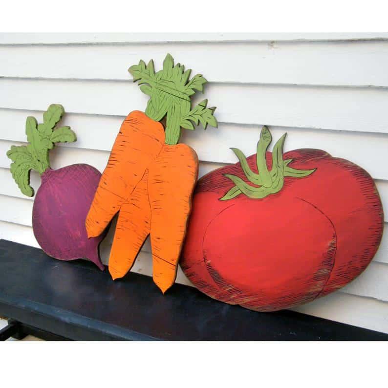 vegetable sign garden gift