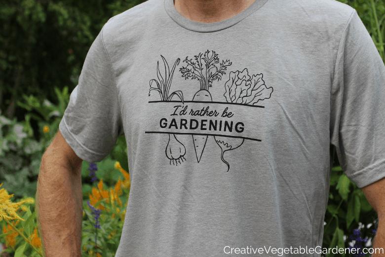man in gardening tee
