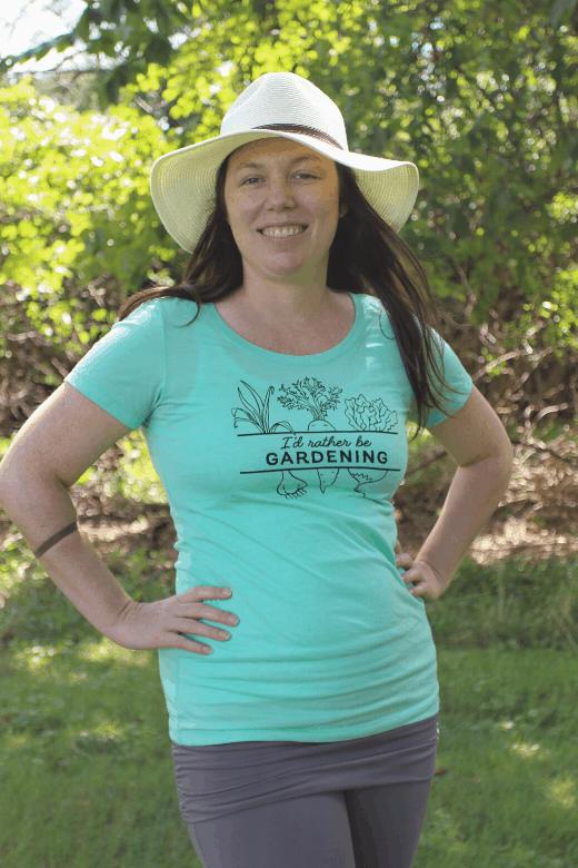 women's gardening tee