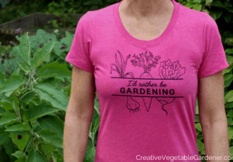 garden t-shirt on woman