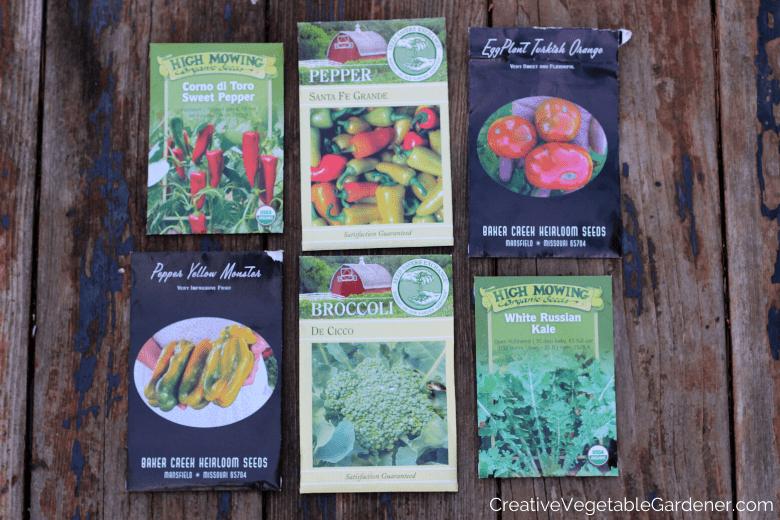 garden seed packets