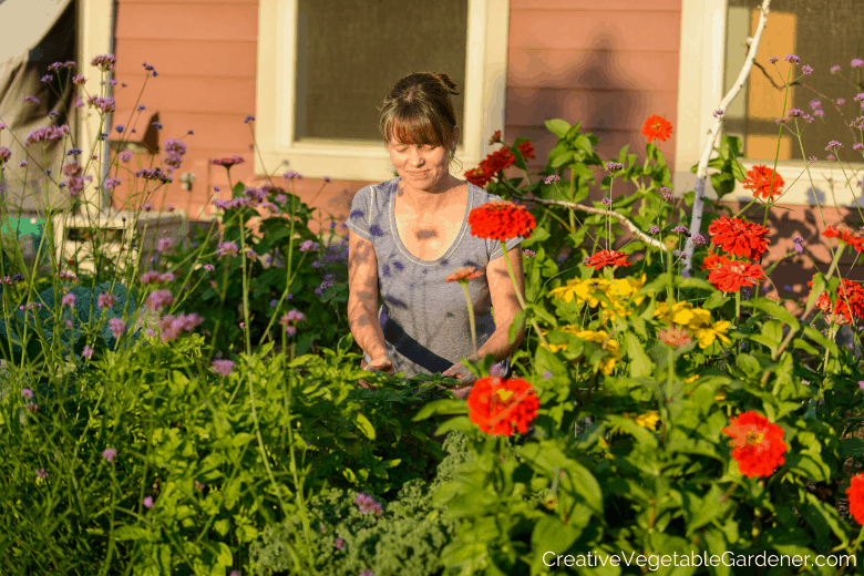 woman in garden what to grow